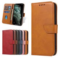 Cubierta del teléfono de la tarjeta de la cartera de la billetera para iPhone12 11 Pro Max XR XS Max Luxury Funda de cuero para iPhone7 8
