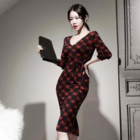 2020 Ladies V- neck Bodycon Wrap Dress Women Corset Casual Re...