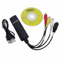 Easycap USB 2.0 سهلة كاب فيديو تلفزيون DVD VHS DVR التقاط محول أسهل كاب USB فيديو التقاط جهاز دعم Win10