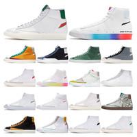 homens do vintage da moda tem um bom jogo térmica branca sneakers preto Habanero vermelha ao ar livre
