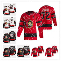 Thomas Chabro Ottawa Senators 2021 Reverse Retro Jersey Brady Tkachuk Matt Murray Craig Anderson Zaitsev Hainsey Tim Stuetzle Hóquei Jersey
