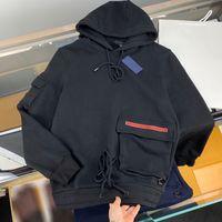رجل مصممين الملابس هوديي مثلث هوديس سترة رجل الشتاء معاطف الرجال المصممين البلوزات الرجال S ملابس سوداء