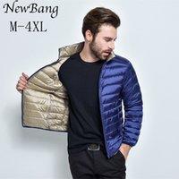 NewBang Brand Men's Puffer Ultra Light Down Jacket Men Autumn Winter Double Side Feather Reversible Parka Q1119