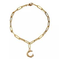 Новый дизайн мода из нержавеющей стали квадратная цепь C Форма дерева ветвь очарование браслет для женщин мужчины хип-хоп день святого Валентина подарочные украшения