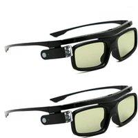 نظارات 3D النظارات النشطة نظارات قابلة للشحن ل DLP-Link عرض الأفلام 2PCS1