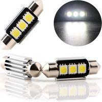 무료 배송 돔 축제 자동차 라이트 캔버스 오류 무료 C5W LED 램프 자동 전구 인테리어 빛 36mm 3SMD 5050 LED 화이트 12V