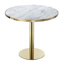 Scandinavian Simple Balcony Tabla y Sillas de mesa redonda Luz de lujo Chapado en oro de acero inoxidable Mesa de café Sala de estar Sofá Muebles