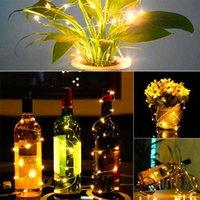 Toptan 2 M Şişe Tıpa Lamba Dize Bar Dekorasyon Dize Işıkları Sıcak Beyaz Yüksek Kaliteli Malzeme LED Dizeleri Dünya Sarı