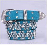Dinisiton 새로운 브랜드 새로운 패션 여성 가죽 벨트 여성 다이아몬드 드릴 넓은 벨트 라인 석 벨트 cin jllgoq
