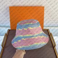 다채로운 클래식 양동이 모자 보닛 모자 여성 디자이너 모자 모자 모자 망 여자 고급 유명한 비니 야구 모자 D201212CE