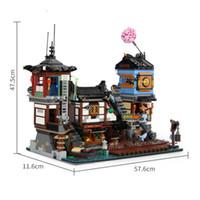 10941 em estoque 06083 3553 pcs ninja cidade rua rua docks construção blocos tijolos brinquedos crianças presente de natal 70657