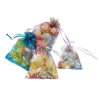 Bolsas de joyería, bolsas 50 unids / set de cordón organza joyería de joyería de exhibición de bolsas de regalo de Navidad boda bolsas
