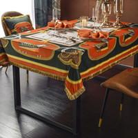 European Antique Velvet Luxurys Tasse Catchlecloths пылезащитный кабинет коврик для столового стола дома декоративная настольная ткань