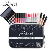 Popfeel 15 قطعة مجموعة أدوات مجموعة للمبتدئين فتاة تخزين حقيبة أحمر الشفاه مسحوق حار بيع TSLM1