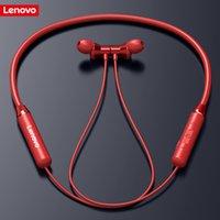 Lenovo HE05 무선 헤드셋 블루투스 5.0 이어폰 마그네틱 넥 밴드 헤드폰 IPX5 방수 스포츠 스테레오 실행 이어 버드