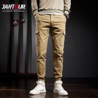 Jantour бренда мужские грузовые брюки мужские комбинезоны 2020 хлопок мужские свободные мульти-карманы гарем брюки мужские брюки Homme 28-38