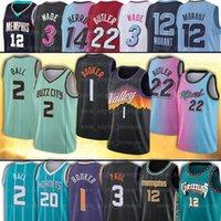 20-2021 Erkek # 2 Lamelo Topu Basketbol Forması Gordon 20 Hayward Retro Vintage 12 Ahlaki 2 Larry Johnson Alonzo 14 Herro 1 Booker Formalar