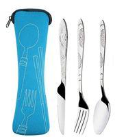 Посуда из нержавеющей стали набор вилков портативный студент стейк нож оригинальность подарок кухонные аксессуары ложка портативный новый 3 5ZX F2