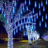 30 cm 8 Tüpler Su Geçirmez Meteor Duş Yağmur LED Dize Işıkları Ev Ağacı için Açık Noel Dekorasyon AB / ABD Fiş