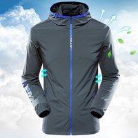 Jaquetas dos homens 2021 Casaco de Verão Casacos Finos Casuais Outerwear Casais Proteção Sol Jacke Alta Qualidade Respirável Tops Green Gray HX4011