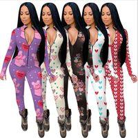 Donne da donna Pagliaccette Maniche lunghe Maniche lunghe Designer Designer Nightwear Playsuit Body Ladies Valentine's Day Pajama Onesies 5 Colori E122311