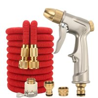 100FT High-Pressure Car Wash Nozzle Set Hose Brush Tool Multi-Function Gardening Watering Device Water Pipe