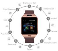 카메라 다이얼 콜 답변 답변과 함께 Samsung Smart Phone 용 Android Smartwatch 용 DZ09 블루투스 스마트 시계 터치 스크린