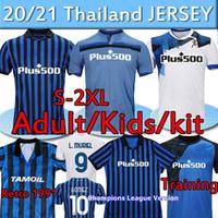 Atalanta FC Futebol Jerseys Gomez 2020 21 L.Muriel Ilicic de Roon Duvan 1991 92 Retro Atalanta Jersey Men Kit Kit Futebol Shirts Uniformes