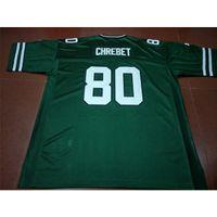 Ucuz Nadir Geeen Erkekler 1997 Wayne Chrebet # 80 Gerçek Tam Nakış Koleji Jersey Boyutu S-4XL veya Özel Herhangi Bir Adı veya Number Jersey