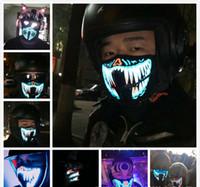 El Mask Flash Maschera musicale LED con suono attivo per Dancing Riding Skating Party Control Control Mask Maschere da partito