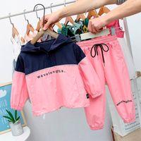 Çocuklar Giyim Setleri Sonbahar Bahar Yürüyor Boys Giysileri Kostüm Kıyafet Takım Elbise Bebek Çocuk Giyim Eşofman Erkek Giyim Giyim Pembe F1209