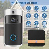 2021Hireless WiFi porte Bell IR Visual HD Caméra Smart Water Security System Système sans fil WiFi Vidéo Soignine Smart Phone Interphone Porte porte