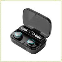 M10 Bluetooth Kulaklık Kablosuz Kulaklıklar Stereo Spor Kulaklık Dokunmatik Watyerproof Kulaklık Kulakiçi Mikrofon ile 2000mAh MQ20