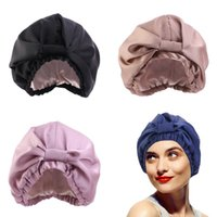 Double deck قبعة حريري بلون قابل للتعديل أغطية الرأس ليلة كاب التعادل وشاح امرأة أزياء القبعات 7 8JD K2