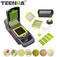 Teenra 7 в 1 многофункциональный овощной слайсер мандолин слайсер кухонный резак картофель Masher Marroot Shredder инструменты 201112