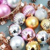 4cm Christmas Tree Set Ornaments Christmas Pendants Hanging Plastic Balls Decorations Ball 34Pcs Ball Holiday Decorations Hsvot