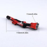 Mini 4.3 inç Tüfek Silikon Boru Sigara Tütün Sigara Borular El Sıklığı