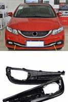 2pcs Kit Car New Chrome Front Left + Right Bumper Fog Light Lamp Cover Grille Fit for Honda Civic 2014-2015