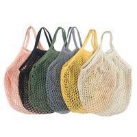 Sacos de compras Bolsas Shopper TOTE Malha Net tecido de algodão saco de algodão string Reusável Armazenamento de frutas Home 7 J2