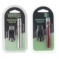 버텍스 LO 예열 VV 배터리 충전기 키트 350mAh CO2 오일 예열 배터리 전자 담배 vape 펜 맞추기 510 분무기 오일 카트리지 2 포장
