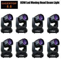 공기에 의해 어떠한 세금 정의는 슈퍼 빔 화이트 LED 80W는 빛을 흔들어 헤드 라이트 미니 삼각 돛 DJ DMX512 LED 고보를 이동하지