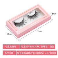 Venta al por mayor Etiqueta Privada Vendedor de pestañas Natural Mirada 3D Faux Mink Pestañas 3D Peaches de seda 3D con caja de papel rosa