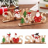 زينة عيد الميلاد للمنزل خشبي إلكتروني عيد الميلاد الثلوج الحلي المنزل العشاء حزب الجدول ديكور نافيداد السنة الجديدة W-00543