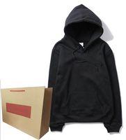 Herren Hoodie mit roten gestreiften Buchstaben Stickerei Hoodies Terry Quality Sweatshirt Mode-Stil Unisex-Hoodie Klassische Tops