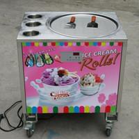 Equipo comercial de procesamiento de alimentos 50 cm Pan sola redonda + 3 tanques Máquina instantánea de helado frito