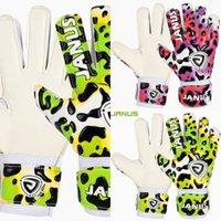 Kids Janus Marca Children Children Portero de fútbol con protección de los dedos engrosada Latex Leopard Leopard Estampado de fútbol Guantes F5ZK