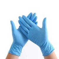 100 / 50pcs Nuovo Monouso Cucina Addensare la lattice Lattice Nitrile Guanti di pulizia dei guanti per lavastoviglie Guanti da giardino in gomma Gloves universale 201130