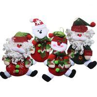 Natal Baubles Santa Claus Boneco de Neve Urso Não-tecido Artesanato Pingentes de Artesanato de Xmas Pendurado Presentes de Ornamentos para Home SD221