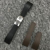 حزام 21 ملليمتر صالح للعد رولكس / GMT ناعمة دائم مقاوم للماء ووتش الفرقة الملحقات مع المشبك الفضي الصلب