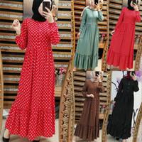 Dromiya Abayas Manica lunga Donne Plus Size 5xl Dress musulmano DOT Kaftan Malaysia Turco Kaftan Kaftan Vestiti islamici Robe Dubai1